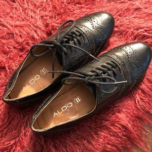 Aldo black loafers